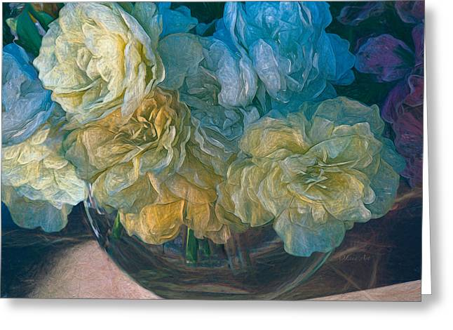 Vintage Still Life Bouquet Painting Greeting Card