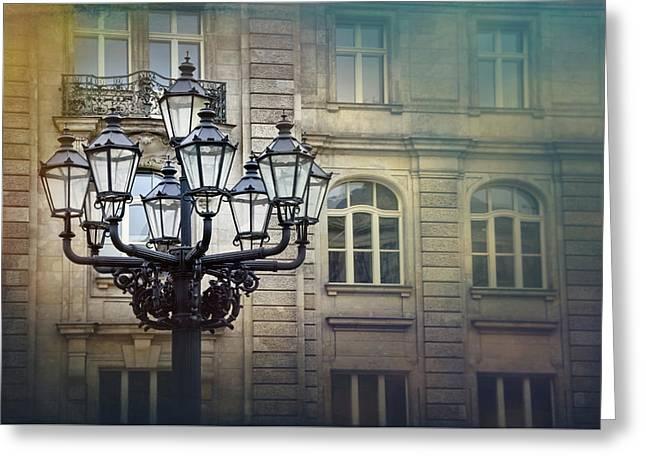 Vintage Streetlamp In Berlin  Greeting Card