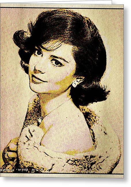 Vintage Style Natalie Wood Greeting Card by Esoterica Art Agency