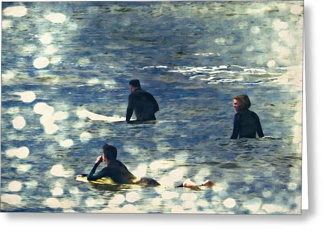 Vintage Surf Greeting Card by Heather Joyce Morrill