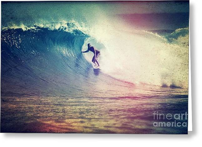 Vintage Surf Style Greeting Card