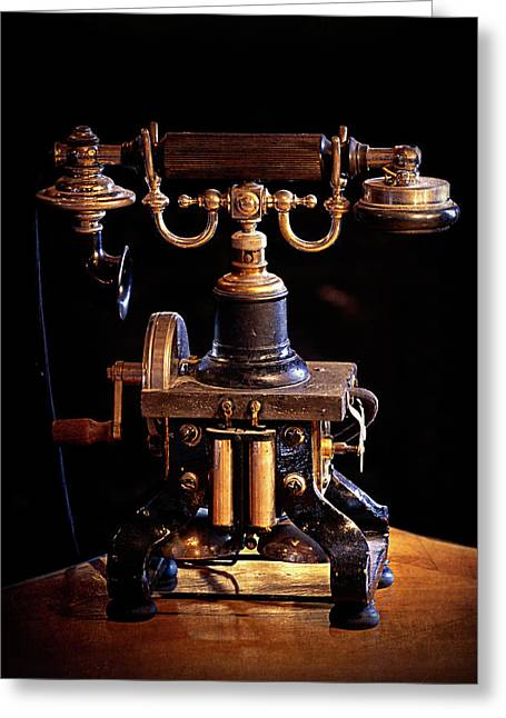 Vintage Telephone - Casa Loma Greeting Card by Maria Angelica Maira