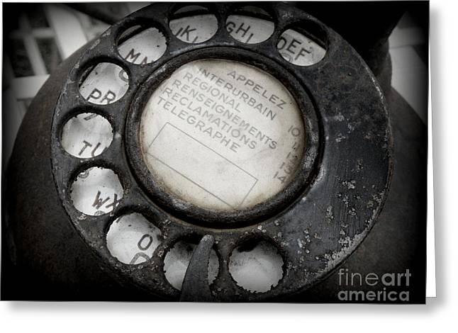 Dial Greeting Cards - Vintage Telephone Greeting Card by Lainie Wrightson