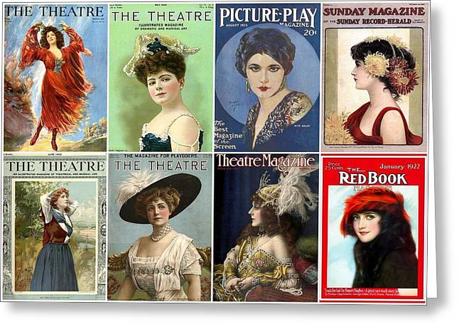 Vintage Theatre Magazine Covers Greeting Card