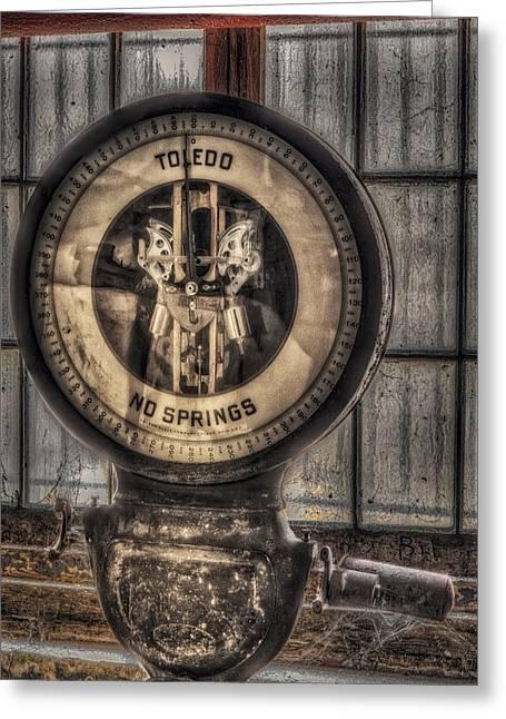 Vintage Toledo No Springs Scale Greeting Card