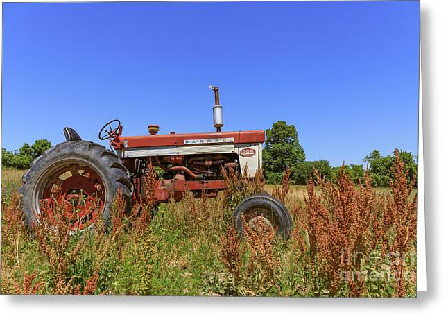 Vintage Tractor Finger Lakes Greeting Card by Edward Fielding