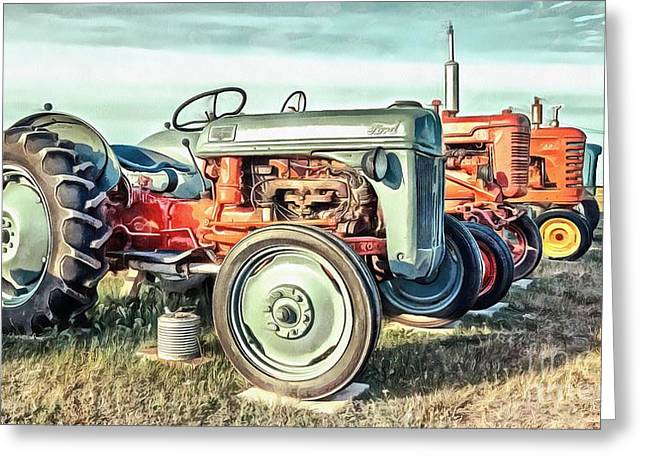 Vintage Tractors Ford  Greeting Card