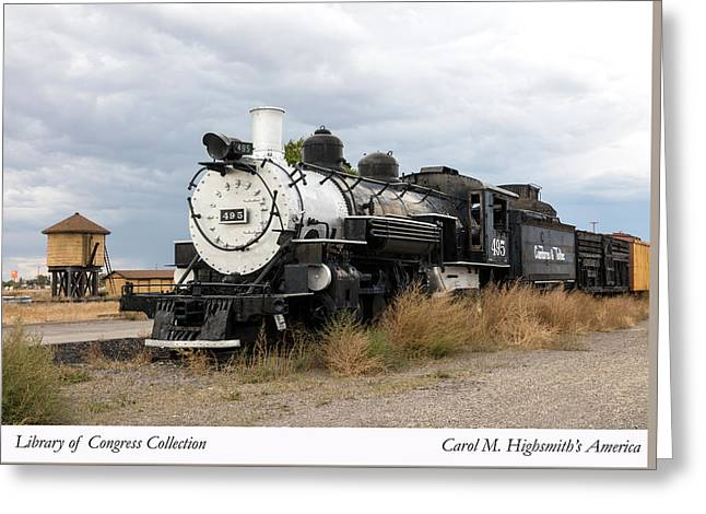 Greeting Card featuring the photograph Vintage Train At A Scenic Railroad Station In Antonito In Colorado by Carol M Highsmith
