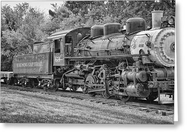 Vintage Train Greeting Card by Brian Mollenkopf