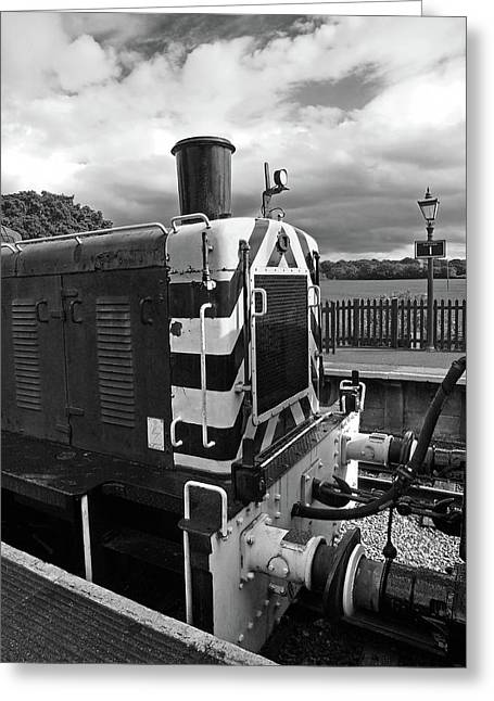 Vintage Train Buffers In Black And White Greeting Card