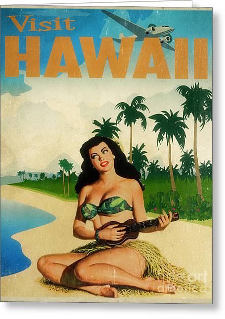 Vintage Travel Hawaii Greeting Card by Cinema Photography