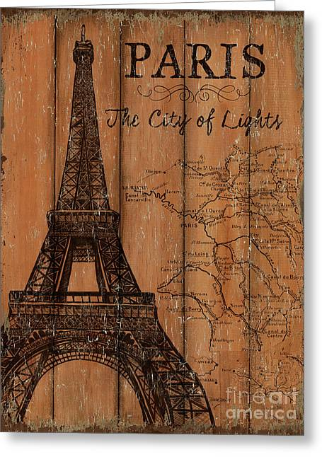 Vintage Travel Paris Greeting Card by Debbie DeWitt