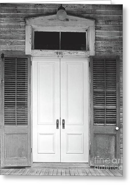 Greeting Card featuring the photograph Vintage Tropical Weathered Key West Florida Doorway by John Stephens