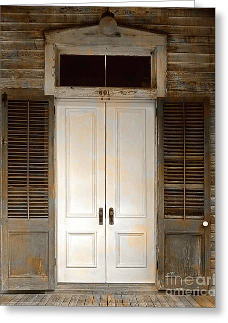 Vintage Tropical Weathered Key West Florida Doorway Greeting Card