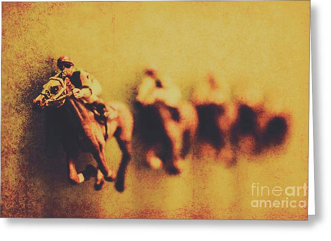 Vintage Trots Greeting Card by Jorgo Photography - Wall Art Gallery