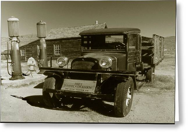 Old Truck 1927 - Vintage Photo Art Print Greeting Card by Art America Gallery Peter Potter