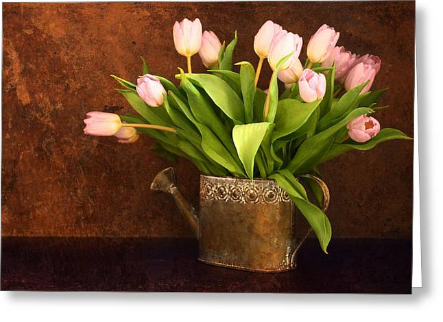 Vintage Tulips Greeting Card by Heike Hultsch