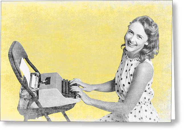 Vintage Typewriter Advertising Greeting Card