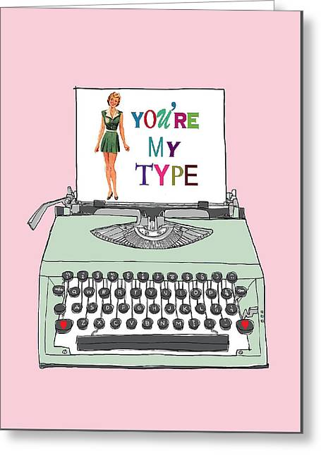 Vintage Typewriter Love Letter Greeting Card by Colleen VT