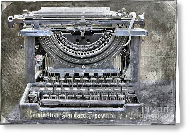 Vintage Typewriter Photo Paint Greeting Card