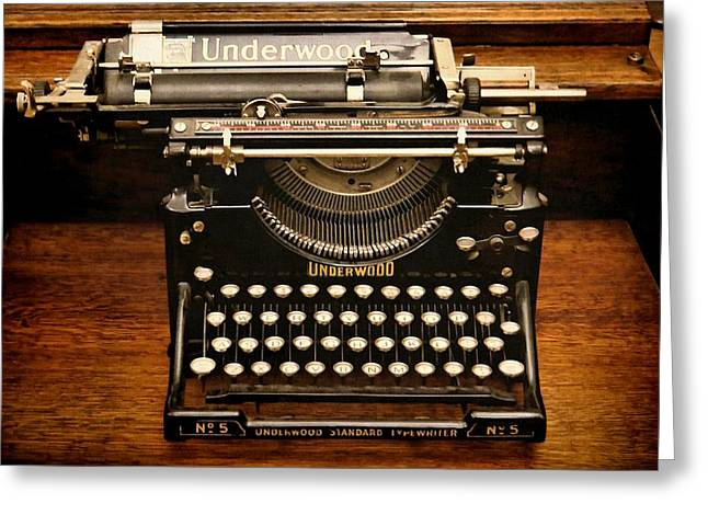 Vintage Underwood Greeting Card by Patricia Strand