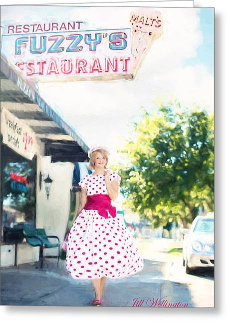 Vintage Val Ice Cream Parlor Greeting Card
