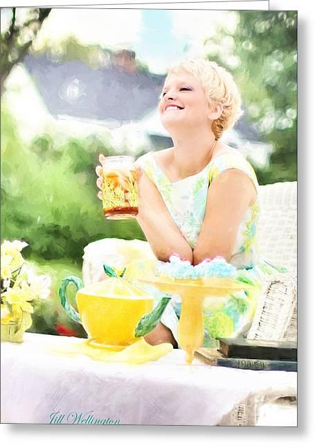 Vintage Val Iced Tea Time Greeting Card