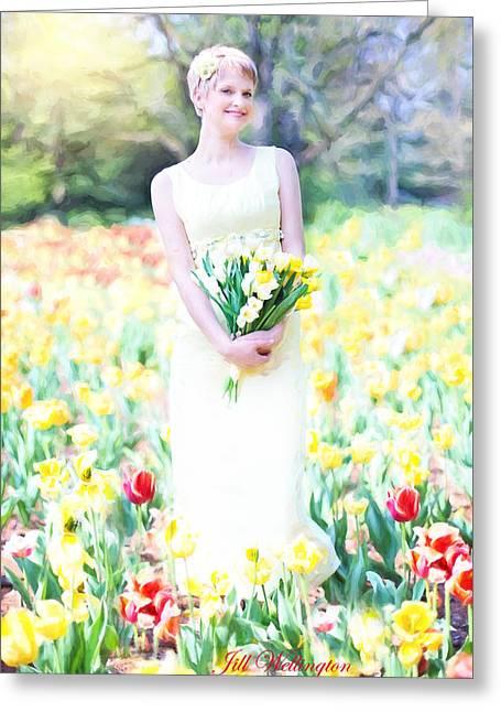 Vintage Val Spring Tulips Greeting Card