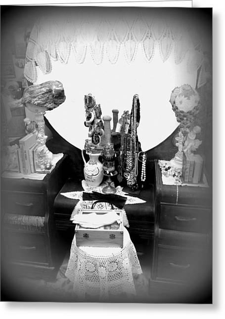 Vintage Vanity Greeting Card by Lesli Sherwin