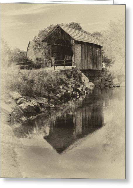 Vintage Vermont Covered Bridge Greeting Card by Jeff Folger