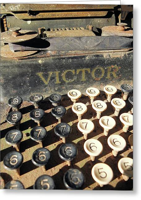 Vintage Victor Greeting Card by Scott Kingery