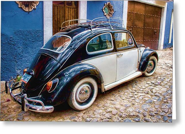 Vintage Vw Bug In Mexico Greeting Card