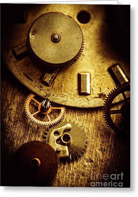 Vintage Watch Parts Greeting Card by Jorgo Photography - Wall Art Gallery