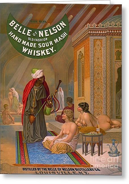 Vintage Whiskey Ad 1883 Greeting Card