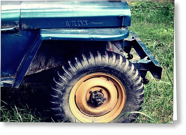 Vintage Wllys Cj-2a Jeep Greeting Card by Luke Moore