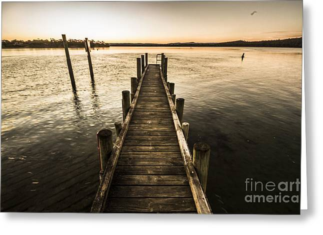 Vintage Wooden Pier Greeting Card by Jorgo Photography - Wall Art Gallery
