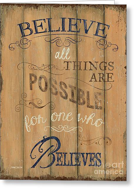 Vintage Wtlb Believe Greeting Card by Debbie DeWitt