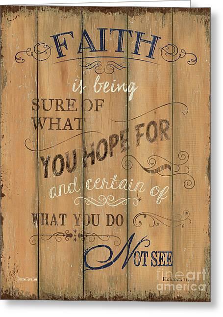 Vintage Wtlb Faith Greeting Card