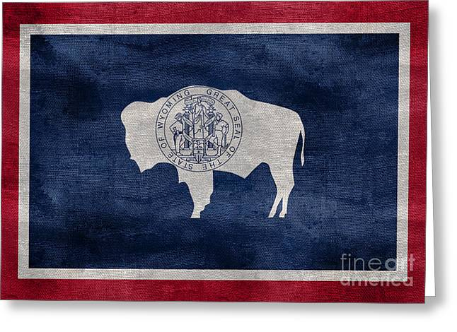 Vintage Wyoming Flag Greeting Card