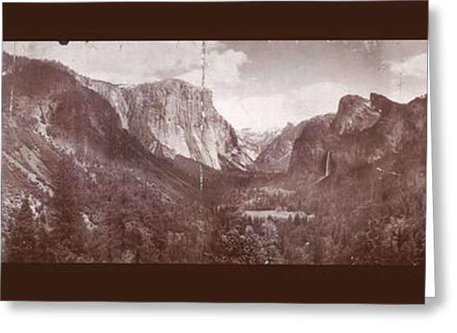Greeting Card featuring the photograph Vintage Yosemite Valley 1899 by John Stephens