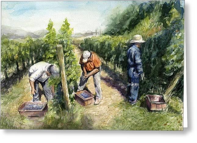 Vineyard Watercolor Greeting Card