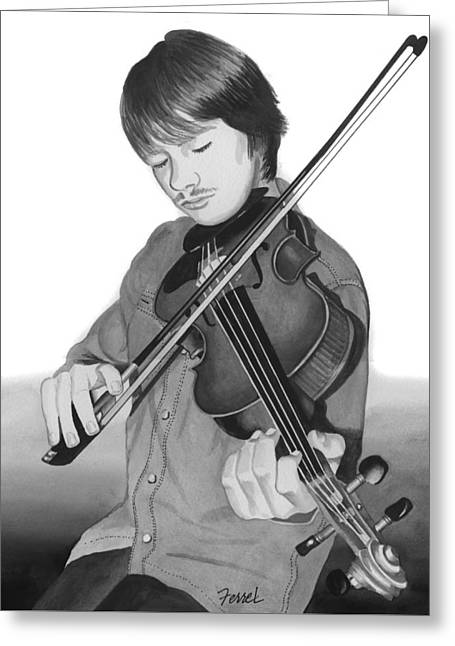 Greeting Card featuring the painting Viola Master by Ferrel Cordle