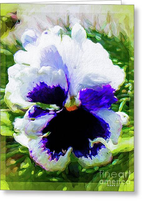 Viola Orchid Tricolore Greeting Card