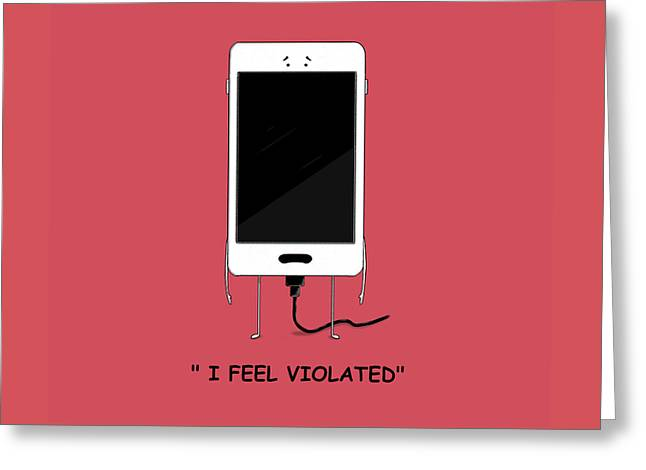 Violated By Dana Alfonso Greeting Card by Dana Alfonso