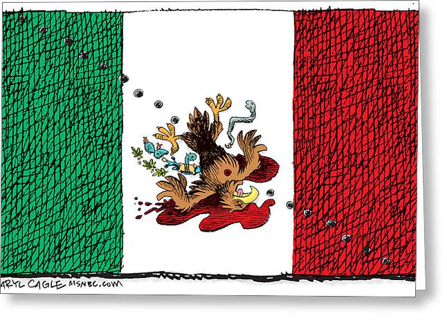 Violence In Mexico Greeting Card