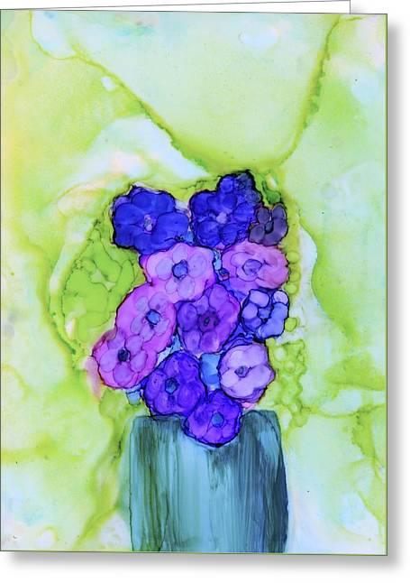 Violet Blue Greeting Card