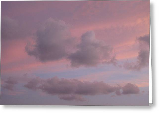 Violet Cloud Formation 2 Greeting Card