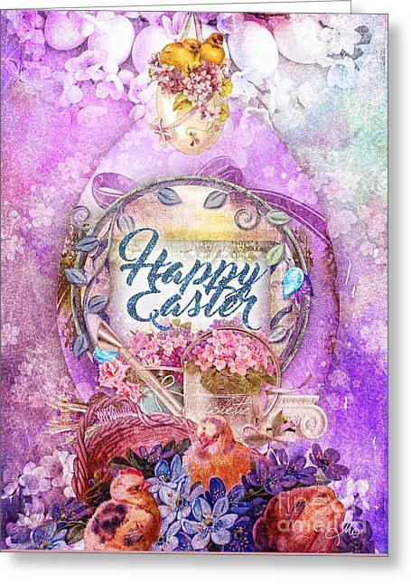 Violet Easter Greeting Card by Mo T