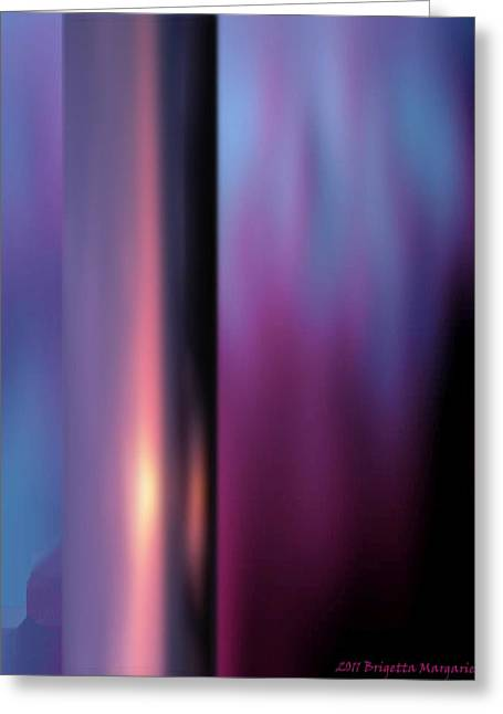 Crown Chakra Greeting Cards - Violet Flame Greeting Card by Brigetta  Margarietta