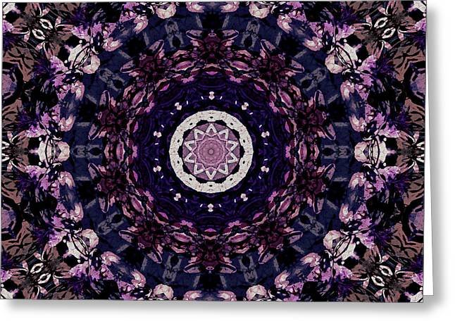 Violet Glow Greeting Card by Natalie Holland